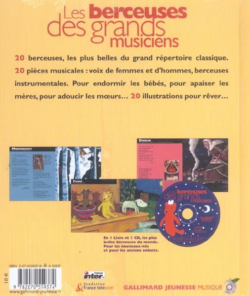 Les berceuses des grands musiciens - les vingt plus belles berceuses du grand repertoire classique