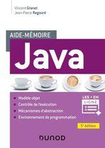 Vente Livre Numérique : Aide-mémoire - Java - 5e éd.  - Vincent Granet - Jean-Pierre Regourd