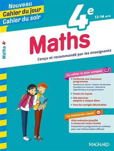 CAHIERS DU JOUR SOIR  -  MATHEMATIQUES  -  4E