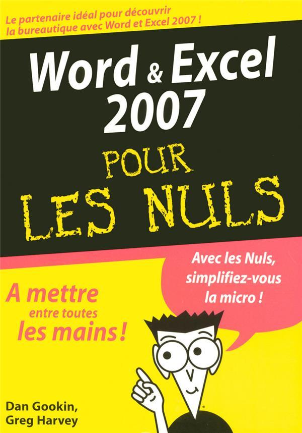 word et excel 2007 pour les nuls
