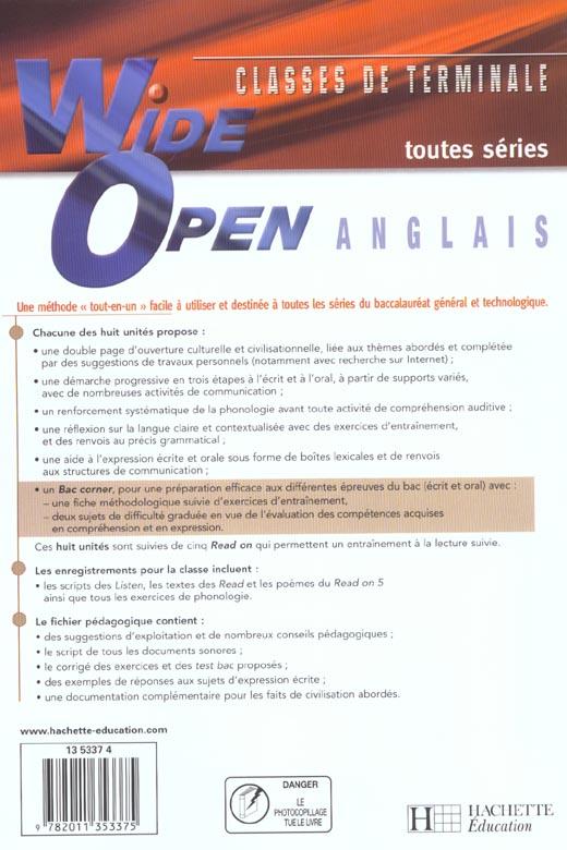 Wide open tles - anglais - livre de l'eleve - edition 2003