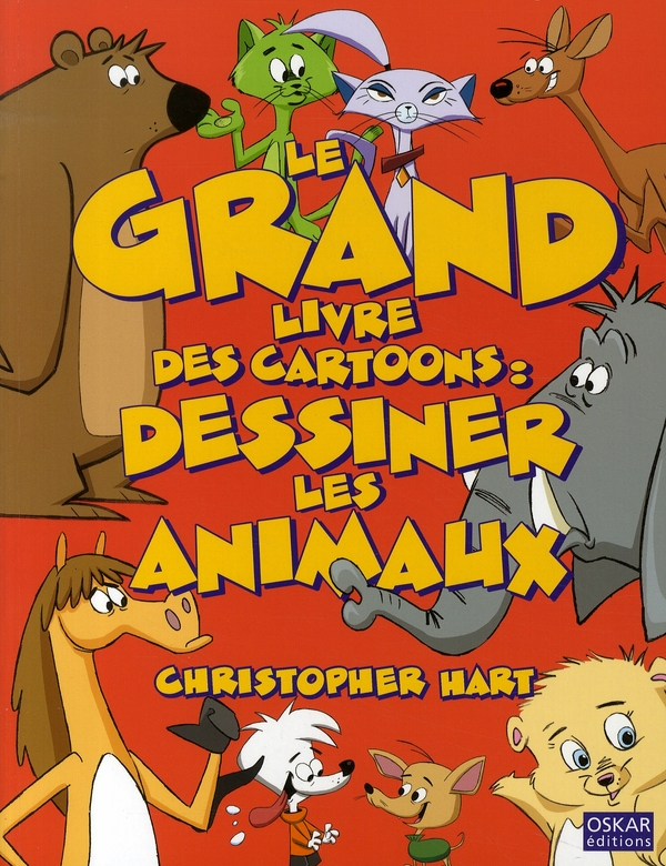 grand livre des cartoons ; dessiner les animaux
