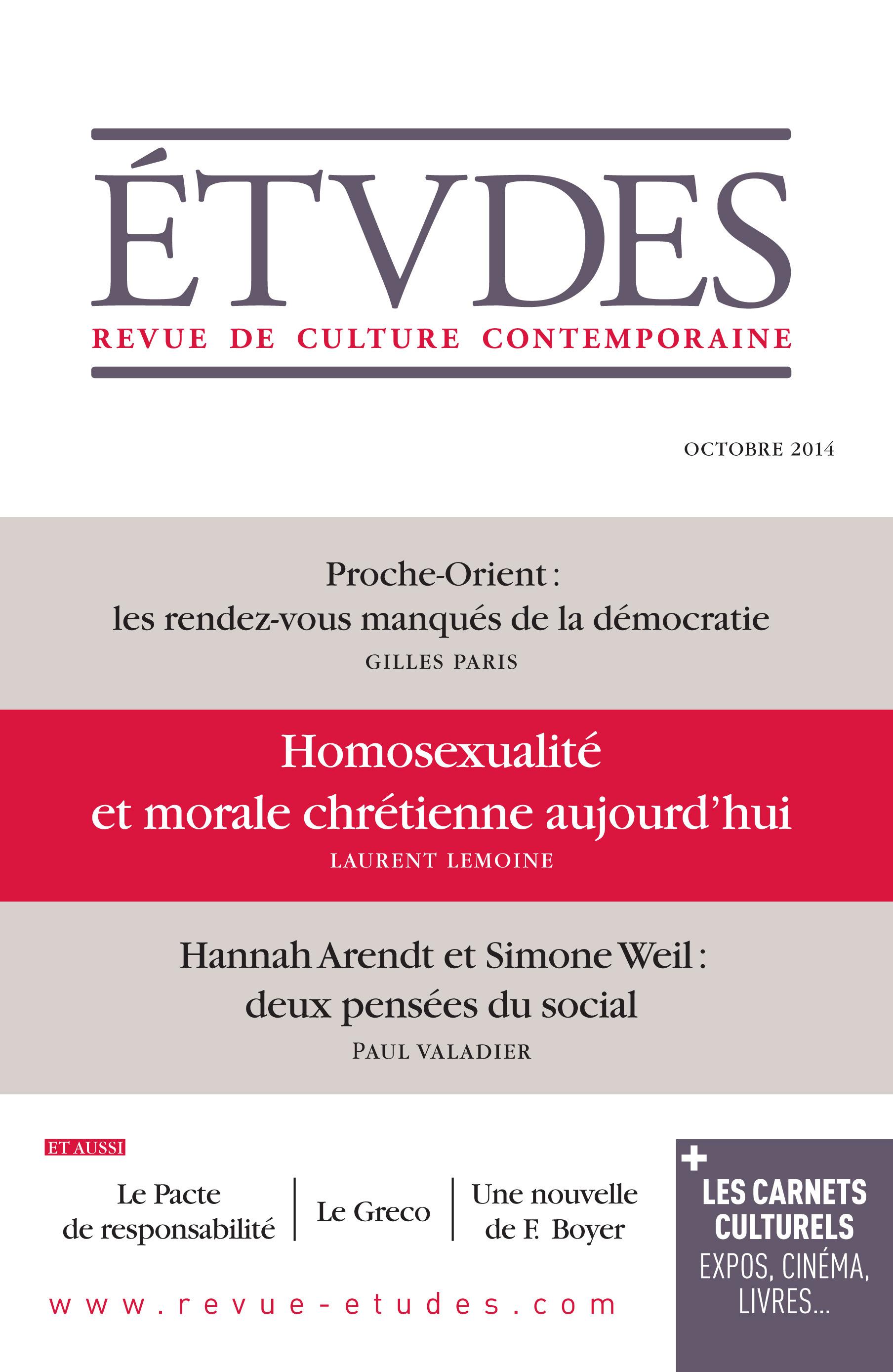 Etudes Octobre 2014