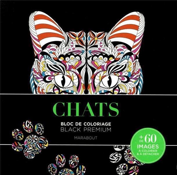 Black Premium ; Chats ; Bloc De Coloriage