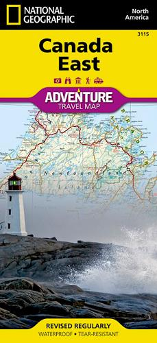 Canada Est ; adventure travel map