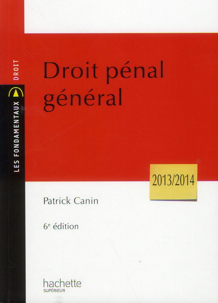 Droit Penal General (6e Edition)