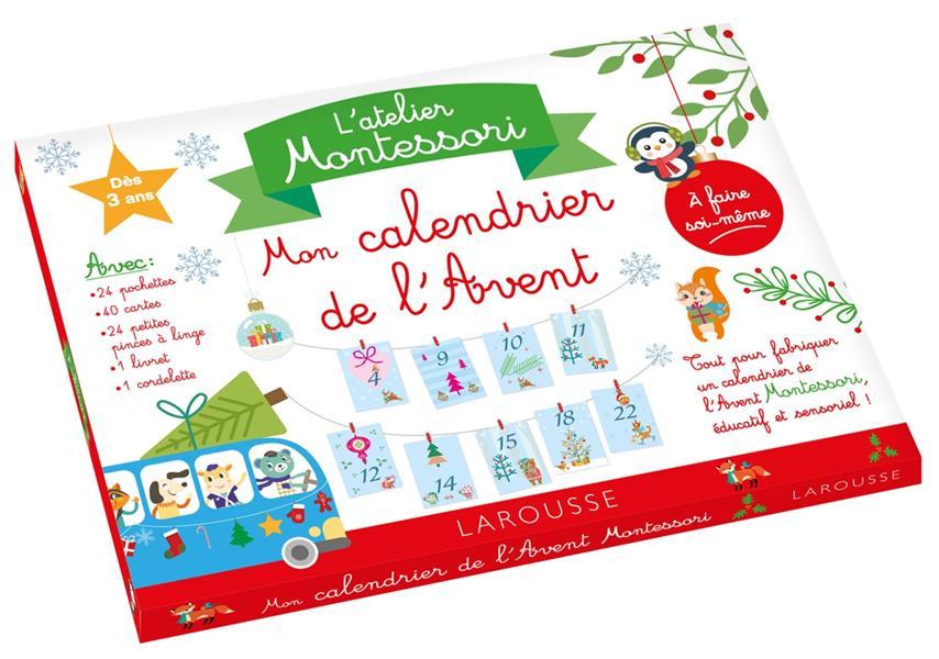Mon atelier Montessori ; calendrier de l'avent