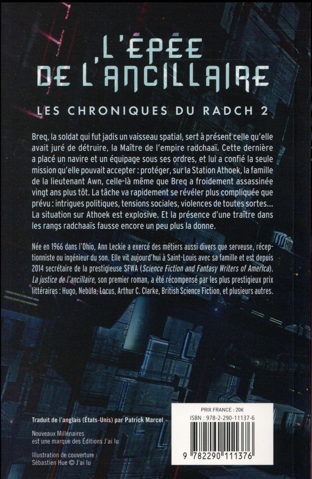 Les chroniques du Radch T.2 ; l'épée de l'ancillaire