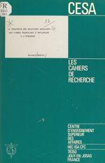 La stratégie des relations bancaires des firmes françaises s'implantant à l'étranger  - Bernard Marois