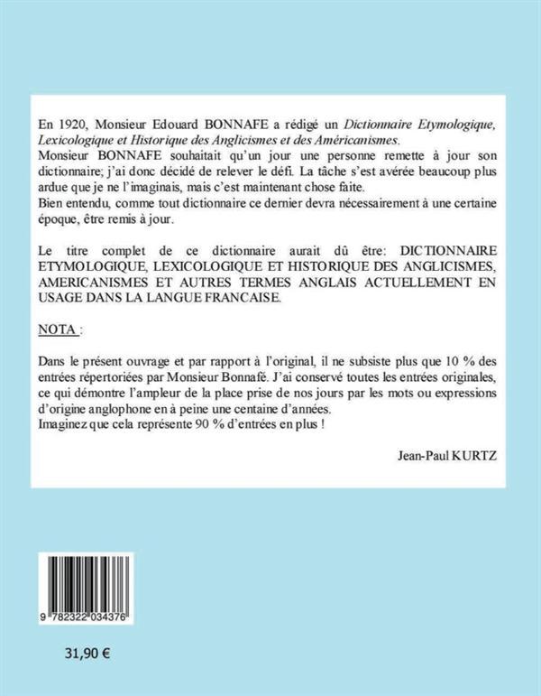 Dictionnaire etymologique des angliscismes et des americanismes