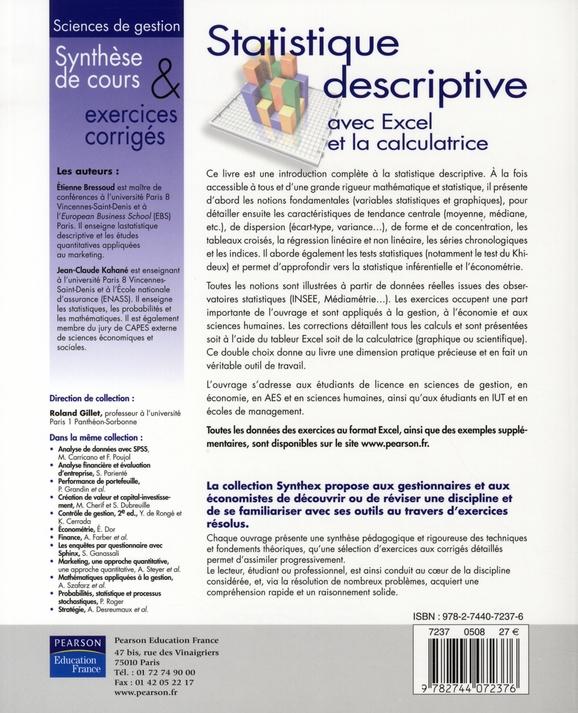 SYNTHEX ; statistique descriptives