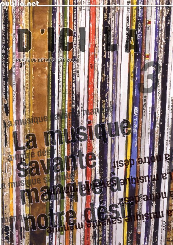 Vente AudioBook : D´ici là n°3 | La musique savante manque à notre désir  - Pierre MENARD
