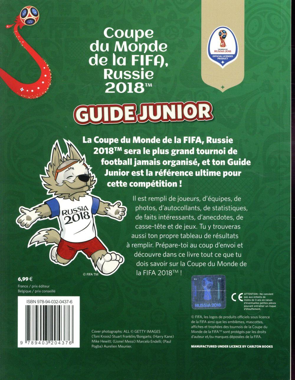 fifa coupe du monde 2018 :  guide junior