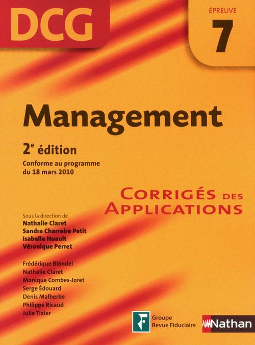 Management - épreuve 7 - DCG corrigés