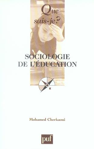 Sociologie de l'education 6e ed qsj 2270 (6e édition)