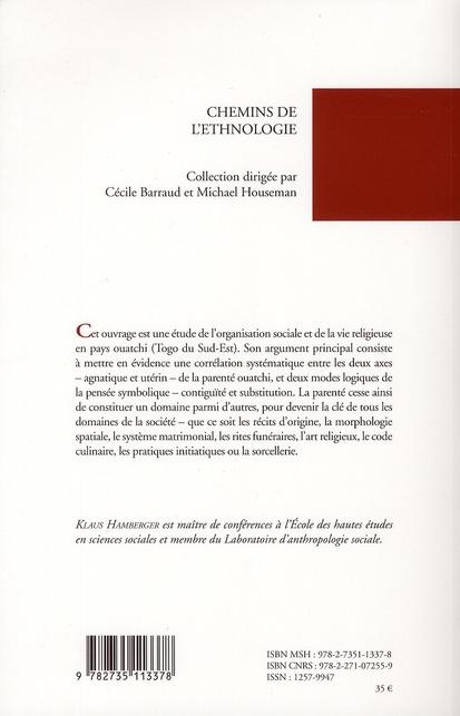 la parenté vodou ; organisation sociale et logique symbolique en pays ouatchi (Togo)