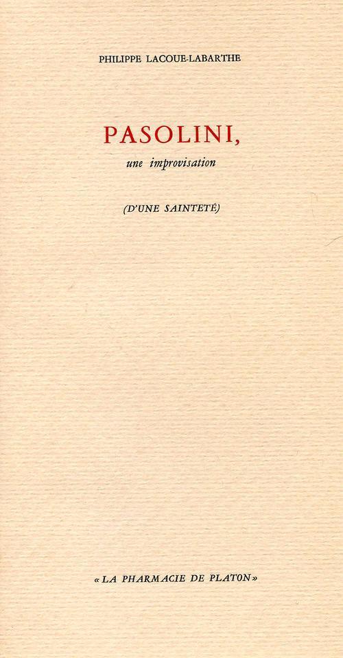 Pasolini, une improvisation