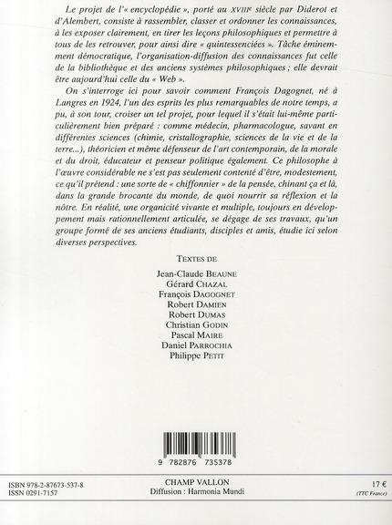 François Dagognet, un nouvel encyclopédiste ?