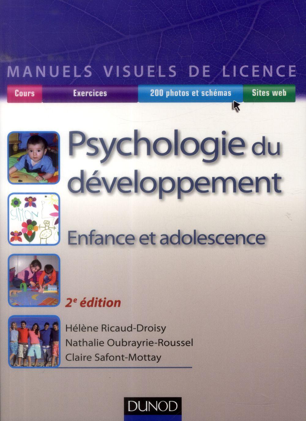 Psychologie Du Developpement ; Enfance Et Adolescence (2e Edition)