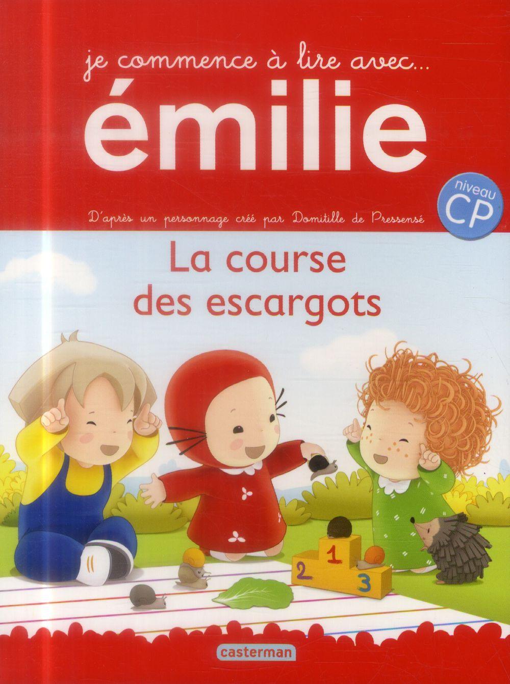 Je commence à lire avec Emilie T.8 ; la course des escargots ; niveau CP