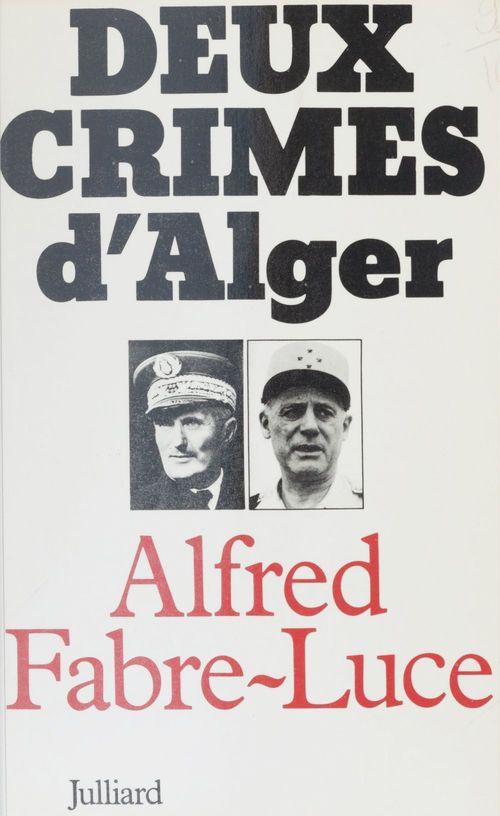 Deux crimes d'Alger