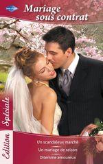 Vente EBooks : Mariage sous contrat  - Lindsay Armstrong - Jacqueline Baird - Judy Christenberry
