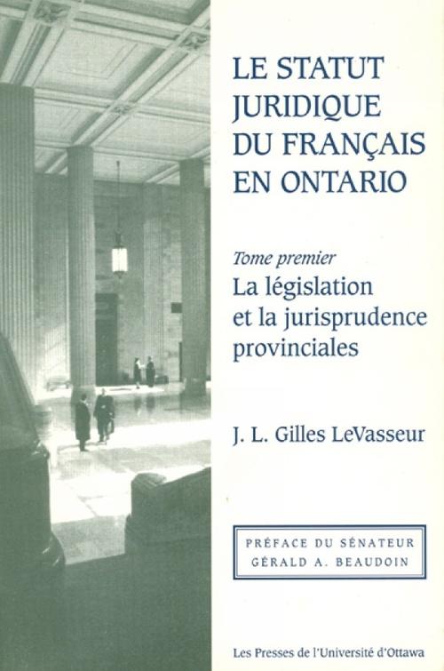 Le statue juridique du francais en ontario