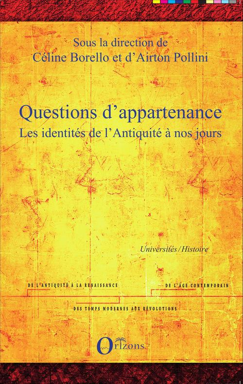 Questions d'appartenance
