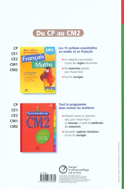 CM2 ; manuel de l'élève (édition 2001)