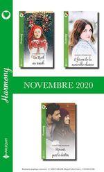 Pack mensuel Harmony : 3 romans (Novembre 2020)  - Sophie Pembroke - Christine Rimmer - Cara Colter