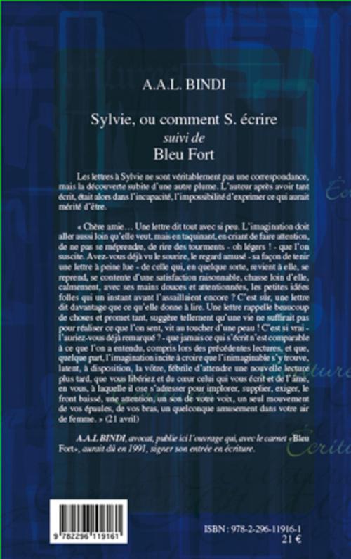 Sylvie, ou comment S. écrire ; bleu fort