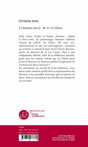 Le féminin chez J.-M.G. Le Clézio