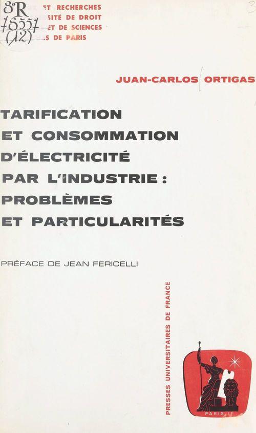 Tarification et consommation d'électricité par l'industrie : problèmes et particularités  - Juan-Carlos Ortigas