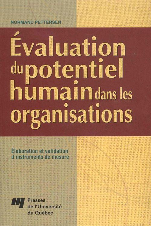 évaluation du potentiel humain dans les organisations