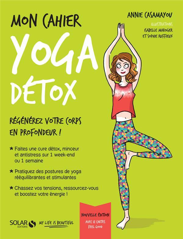 MON CAHIER ; yoga détox avec cartes