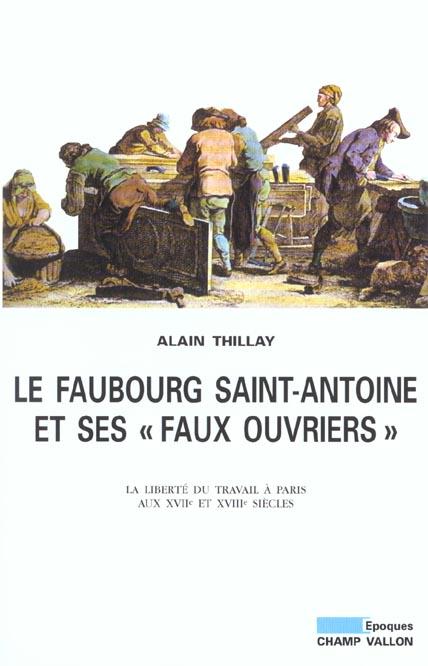 Le faubourg Saint-Antoine et ses