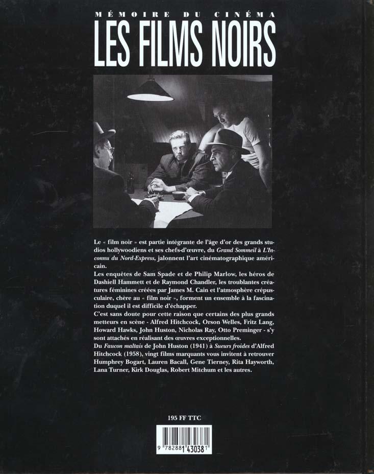 Les films noirs ; memoire du cinema