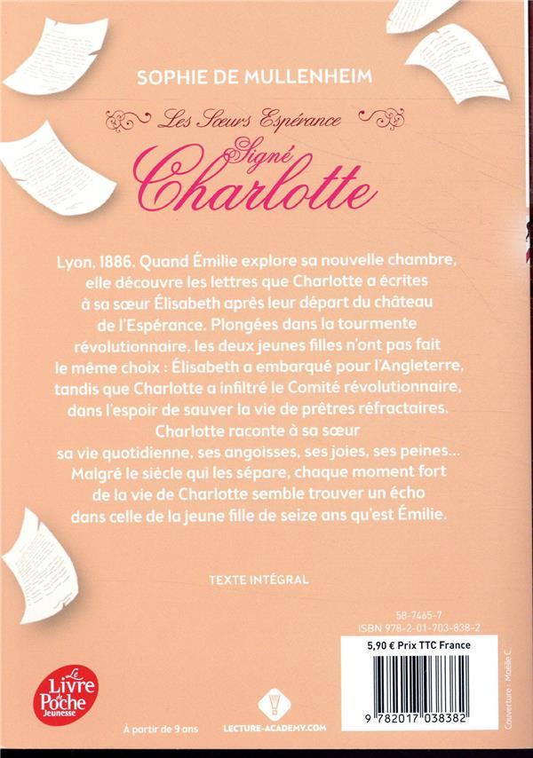 Les soeurs espérance t.1 ; signé Charlotte