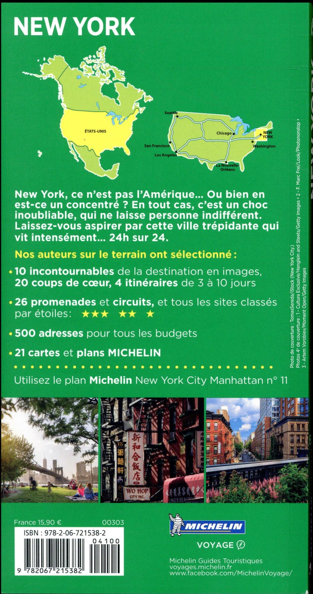 Le guide vert ; New York