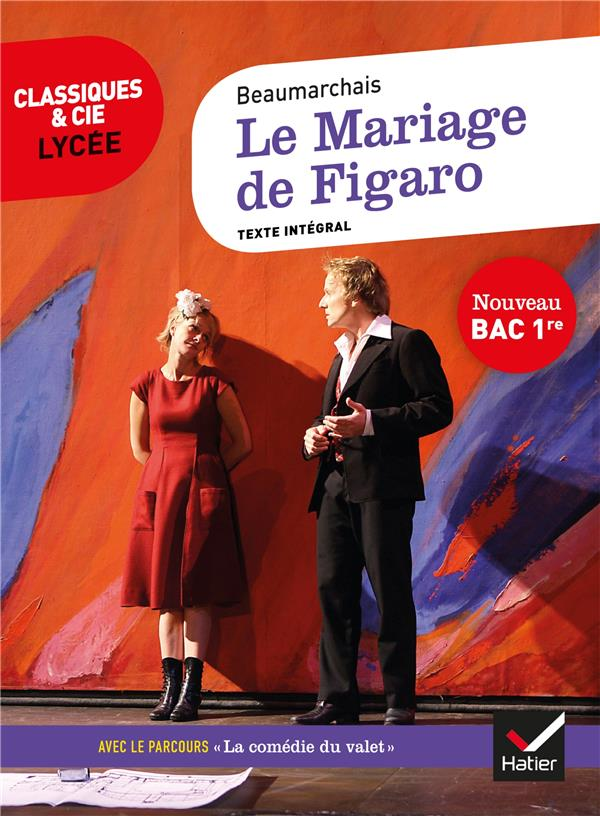 Le mariage de Figaro ; 1re ; parcours  la comedie du valet ,  Pierre,Augustin Caron de Beaumarchais , Hatier , Poche , Librairie  Gallimard PARIS