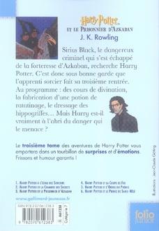 Harry Potter T.3 ; Harry Potter et le prisonnier d'Azkaban