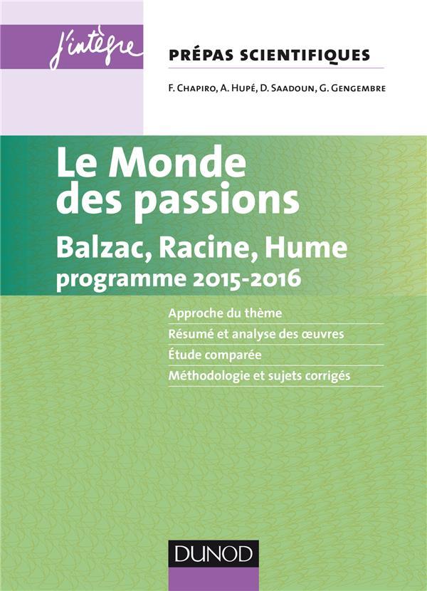 Le Monde Des Passions ; Prepas Scientifiques ; Programme 2015/2016