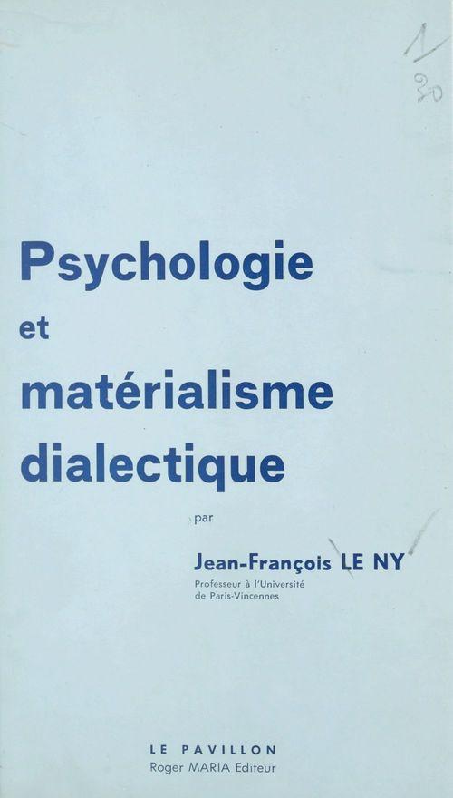 Psychologie et matérialisme dialectique