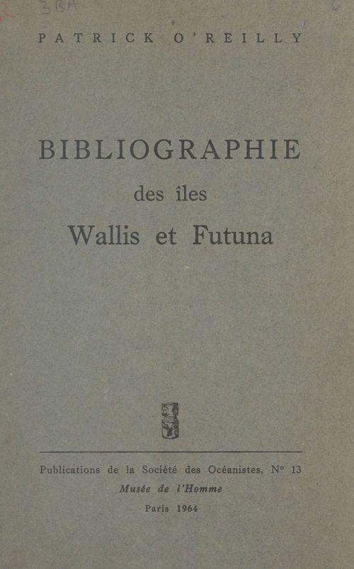 Bibliographie des îles Wallis et Futuna