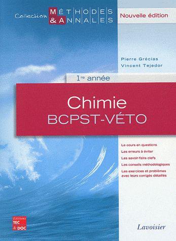 Chimie ; BCPST-véto ; 1ère année