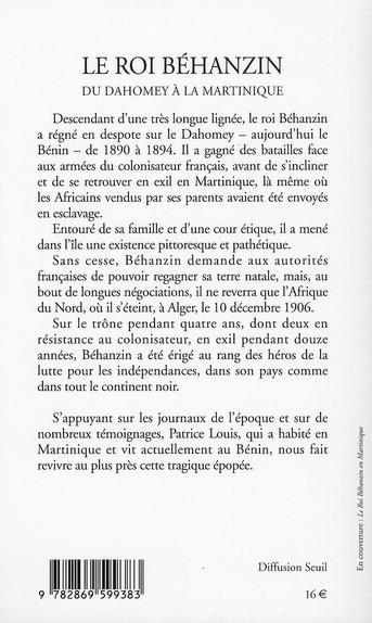 le roi Behanzin du Dahomey à la Martinique