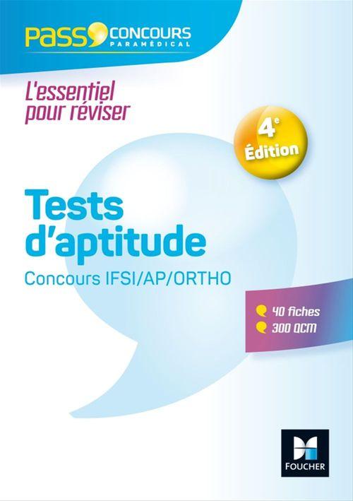 Pass'Concours - Tests d'aptitude Concours IFSI/AP/Ortho -  Entrainement et révision