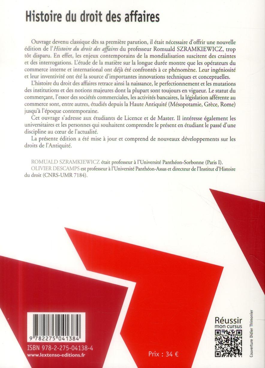 Histoire du droit des affaires (2e édition)