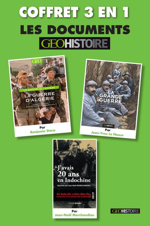 Coffret histoire : La grande guerre, La guerre d'Algérie, J'avais 20 ans en Indochine