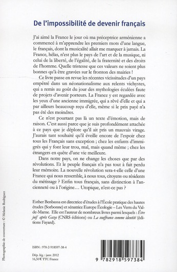 De l'impossibilité de devenir français